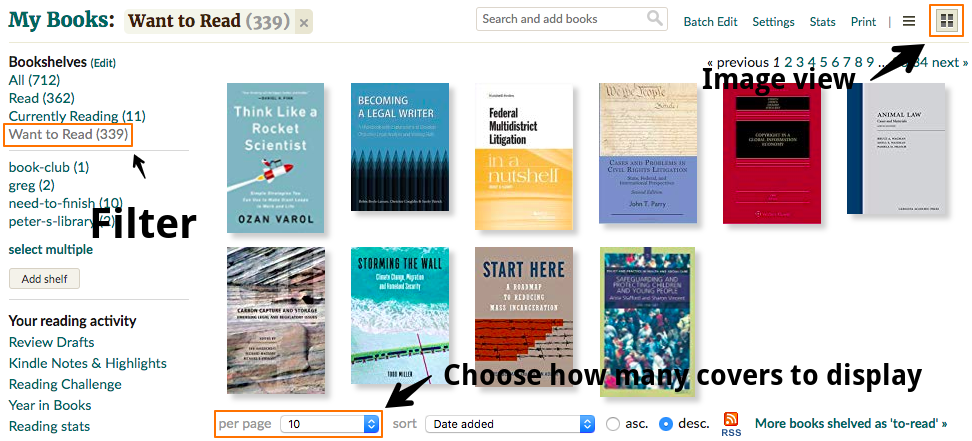 Additional instructions for adding book covers in GoodReads