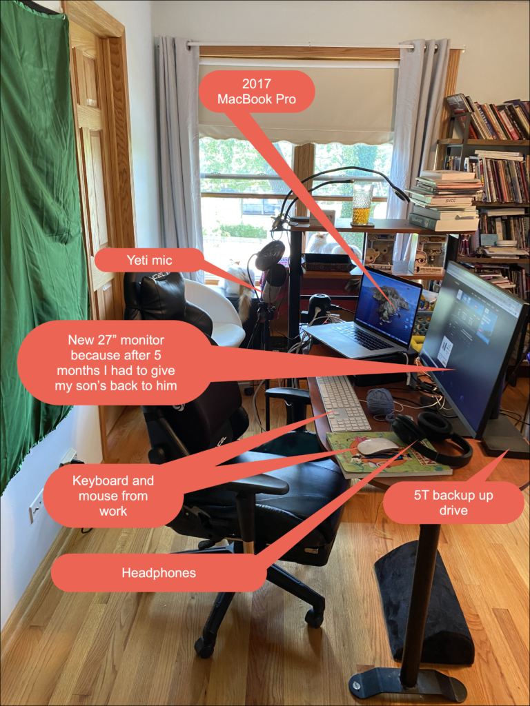 Image of desk and technology